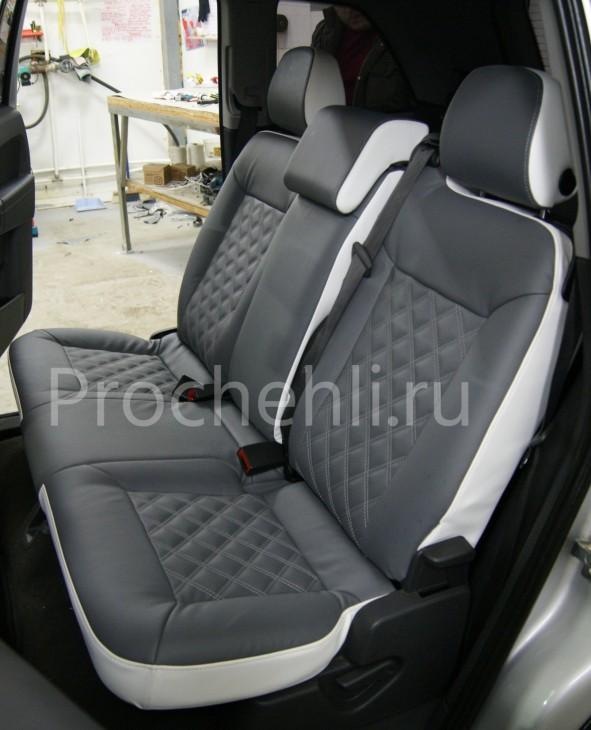 Чехлы на Opel Zafira B с эффектом перетяжки №7