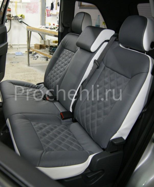 Чехлы на Opel Zafira B с эффектом перетяжки №8
