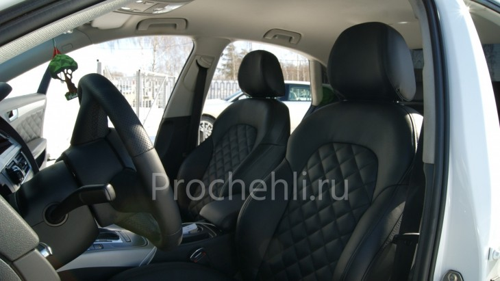 Чехлы на Audi A4 B8 со спорт-сиденьями №5