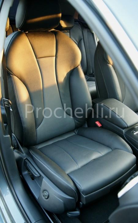 Чехлы на Audi A3 8V sport салон с эффектом перетяжки сидений №1