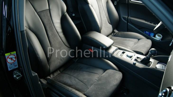 Чехлы на Audi A3 8V sport салон с эффектом перетяжки сидений №3