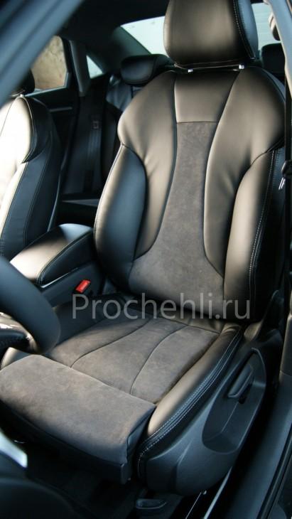 Чехлы на Audi A3 8V sport салон с эффектом перетяжки сидений №4