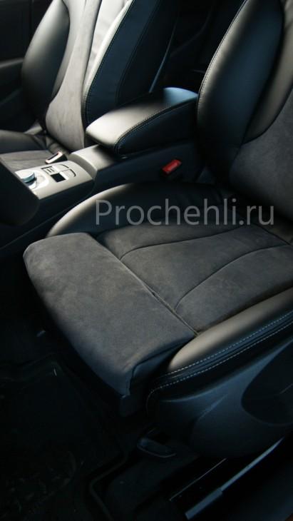Чехлы на Audi A3 8V sport салон с эффектом перетяжки сидений №6