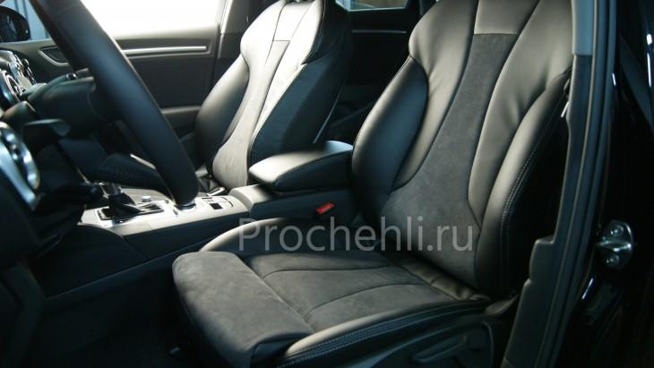 Чехлы на Audi A3 8V sport салон с эффектом перетяжки сидений №7
