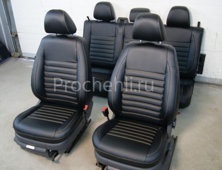 Чехлы на VW Amarok с эффектом перетяжки салона №1