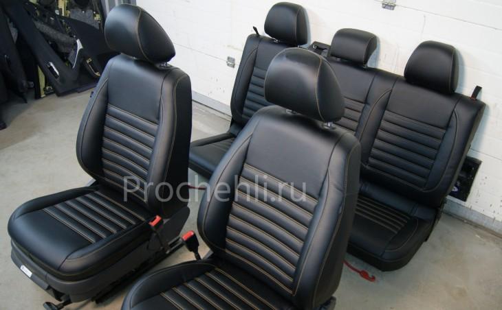 Чехлы на VW Amarok с эффектом перетяжки салона №2