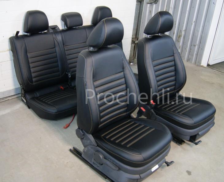 Чехлы на VW Amarok с эффектом перетяжки салона №3