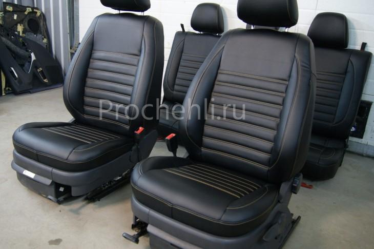 Чехлы на VW Amarok с эффектом перетяжки салона №4