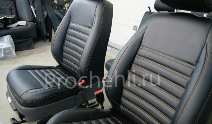 Чехлы на VW Amarok с эффектом перетяжки салона №5