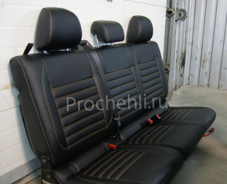 Чехлы на VW Amarok с эффектом перетяжки салона №7