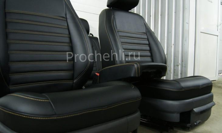 Чехлы на VW Amarok с эффектом перетяжки салона №8