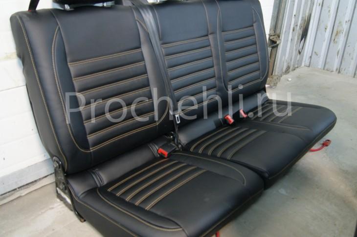 Чехлы на VW Amarok с эффектом перетяжки салона №9