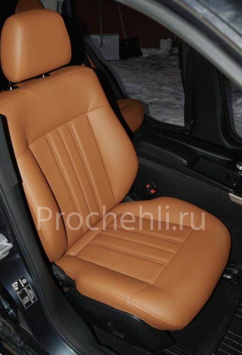 Чехлы на Mercedes-Benz E-klasse (W212) c эффектом перетяжки салона из экокожи №1