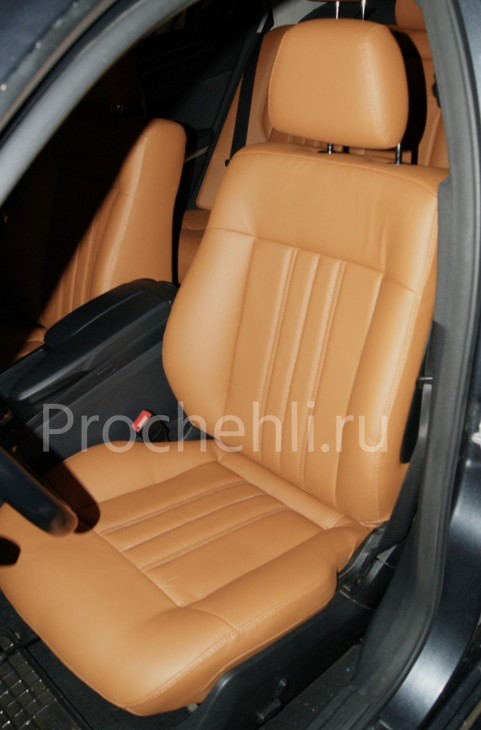 Чехлы на Mercedes-Benz E-klasse (W212) c эффектом перетяжки салона из экокожи №2