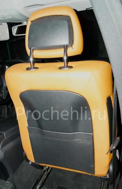 Чехлы на Mercedes-Benz E-klasse (W212) c эффектом перетяжки салона из экокожи №5