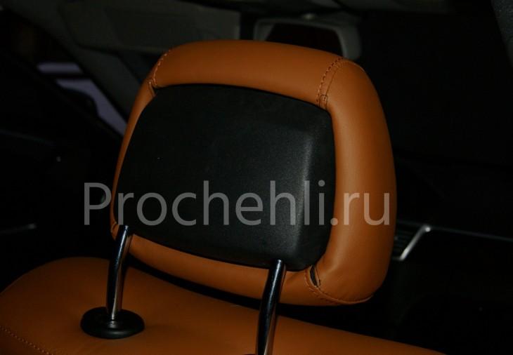 Чехлы на Mercedes-Benz E-klasse (W212) c эффектом перетяжки салона из экокожи №4