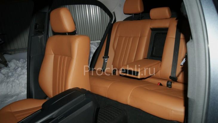 Чехлы на Mercedes-Benz E-klasse (W212) c эффектом перетяжки салона из экокожи №7