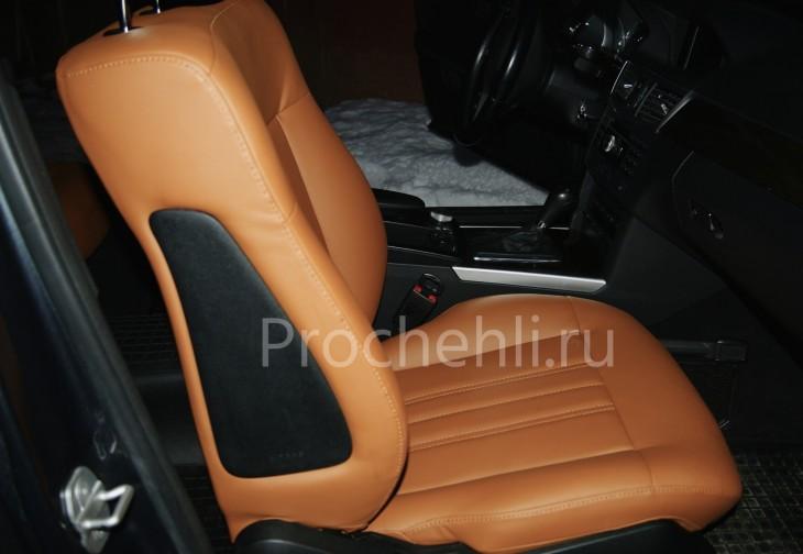 Чехлы на Mercedes-Benz E-klasse (W212) c эффектом перетяжки салона из экокожи №3