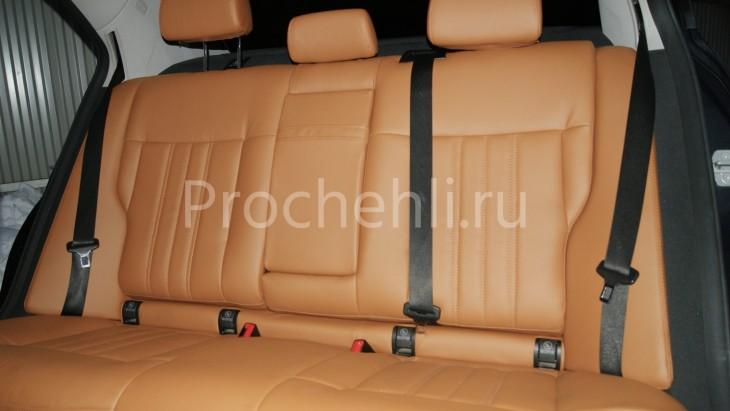 Чехлы на Mercedes-Benz E-klasse (W212) c эффектом перетяжки салона из экокожи №9
