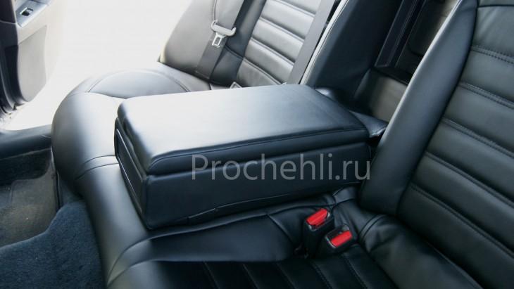 Каркасные чехлы на Lexus IS с эффектом перетяжки салона из черной экокожи №7