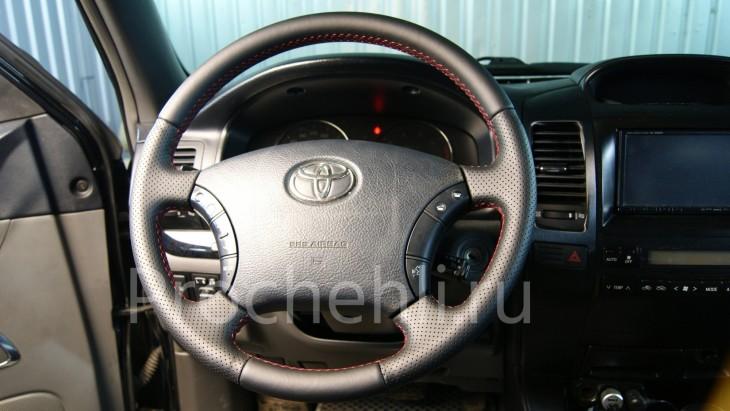 Руль Toyota LC Prado 120 из черной натуральной кожи