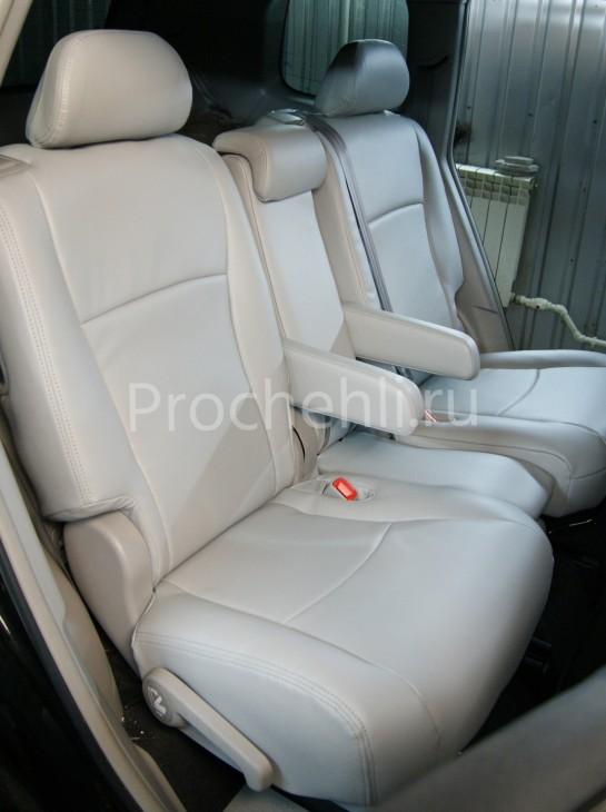 Чехлы на Toyota Highlander 2 с эффектом перетяжки из экокожи №4